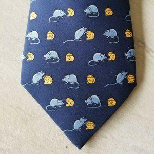 """Men's Hermes Paris Neck Tie """"Mouse & Cheese"""" theme"""